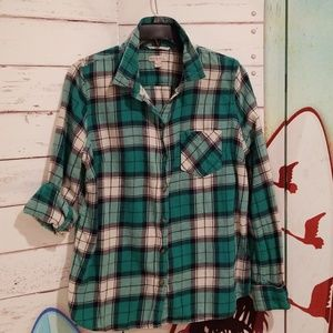 Merona Plaid Boyfriend Shirt